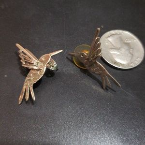 Jewelry - Vintage 925 Silver Bird Earrings Made in Mexico